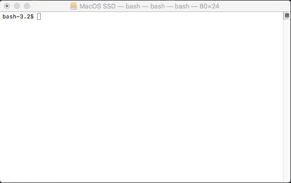 Una aburrida consola de terminal que viene por defecto en Mac Os